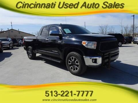 2016 Toyota Tundra for sale at Cincinnati Used Auto Sales in Cincinnati OH
