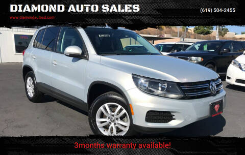 2013 Volkswagen Tiguan for sale at DIAMOND AUTO SALES in El Cajon CA