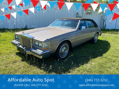 1984 Cadillac Seville for sale at Affordable Auto Spot in Houston TX