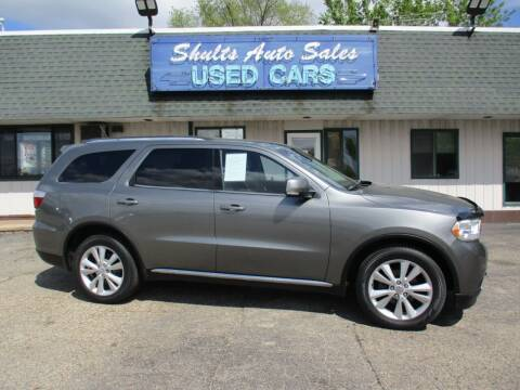 2012 Dodge Durango for sale at SHULTS AUTO SALES INC. in Crystal Lake IL