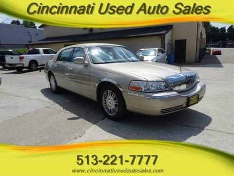 2009 Lincoln Town Car for sale at Cincinnati Used Auto Sales in Cincinnati OH