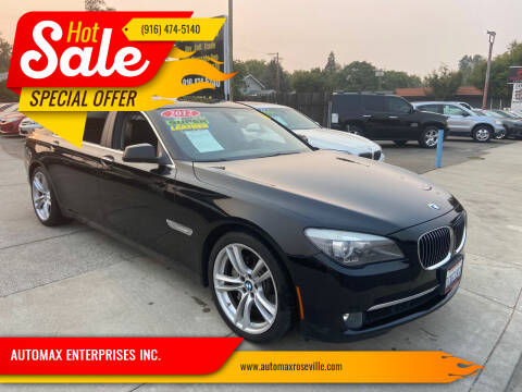2012 BMW 7 Series for sale at AUTOMAX ENTERPRISES INC. in Roseville CA