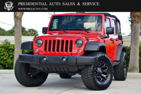 2016 Jeep Wrangler Unlimited for sale at Presidential Auto  Sales & Service in Delray Beach FL