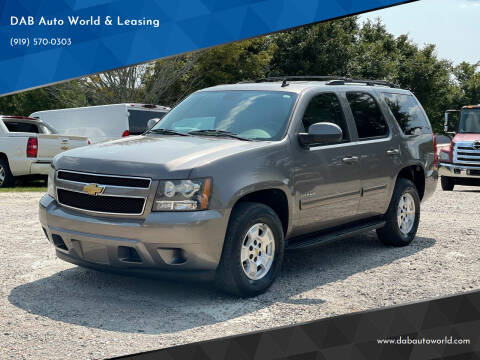 2012 Chevrolet Tahoe for sale at DAB Auto World & Leasing in Wake Forest NC