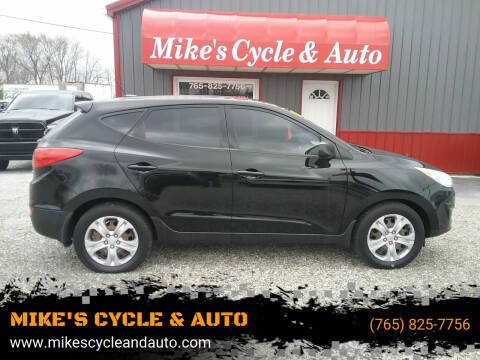 2010 Hyundai Tucson for sale at MIKE'S CYCLE & AUTO in Connersville IN