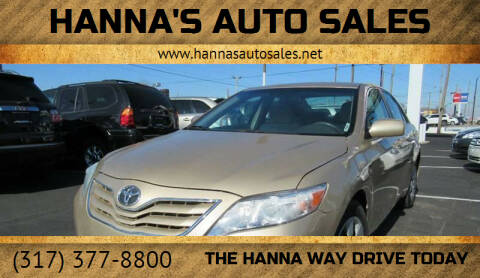 2010 Toyota Camry for sale at Hanna's Auto Sales in Indianapolis IN