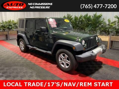 2010 Jeep Wrangler Unlimited for sale at Auto Express in Lafayette IN