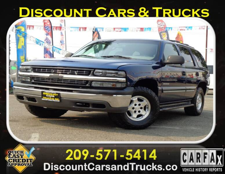 2001 Chevrolet Tahoe for sale at Discount Cars & Trucks in Modesto CA