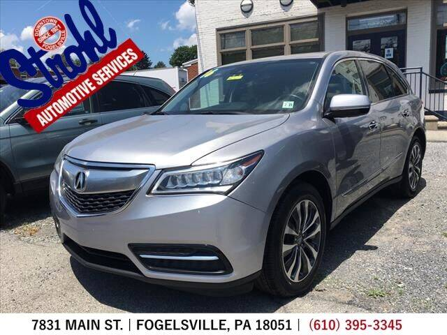 2016 Acura MDX for sale at Strohl Automotive Services in Fogelsville PA