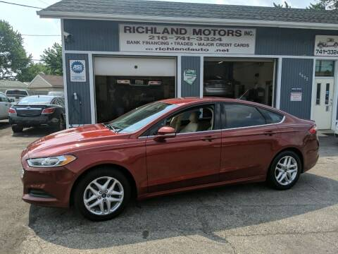 2014 Ford Fusion for sale at Richland Motors in Cleveland OH