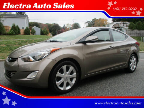 2012 Hyundai Elantra for sale at Electra Auto Sales in Johnston RI