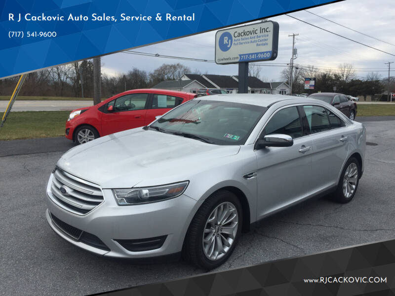 2016 Ford Taurus for sale at R J Cackovic Auto Sales, Service & Rental in Harrisburg PA