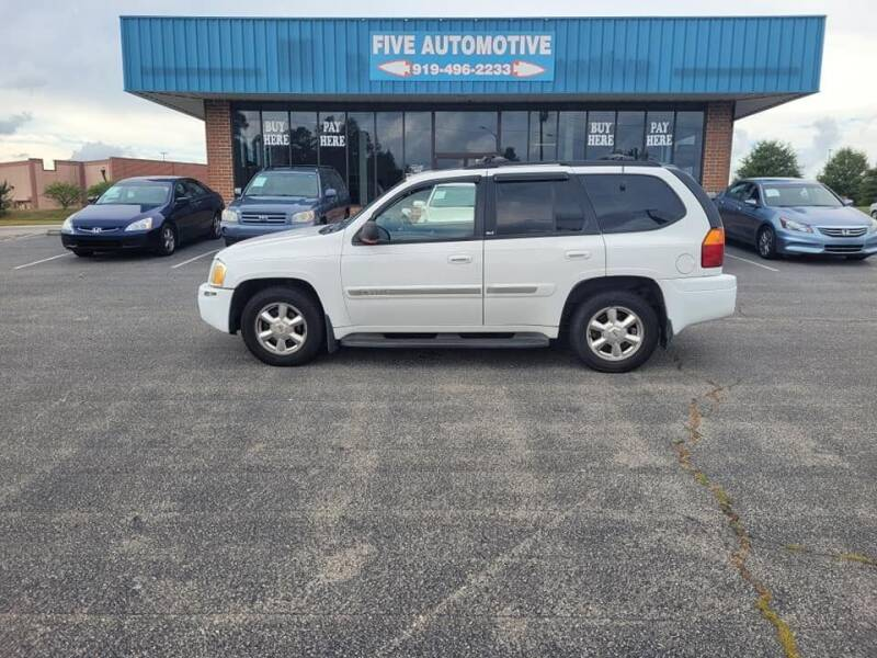 2003 GMC Envoy for sale at Five Automotive in Louisburg NC