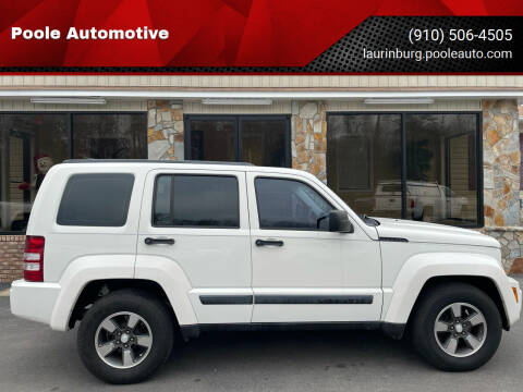 2008 Jeep Liberty for sale at Poole Automotive in Laurinburg NC