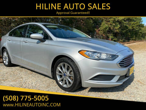 2017 Ford Fusion for sale at HILINE AUTO SALES in Hyannis MA