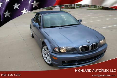 2002 BMW 3 Series for sale at Highland Autoplex, LLC in Dallas TX