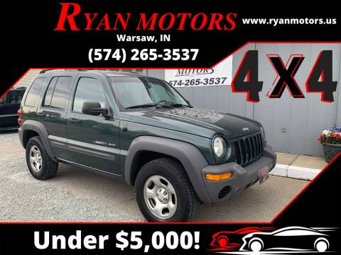 2003 Jeep Liberty for sale at Ryan Motors LLC in Warsaw IN