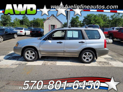 2003 Subaru Forester for sale at FUELIN FINE AUTO SALES INC in Saylorsburg PA