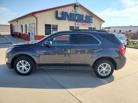 "2016 Chevrolet Equinox for sale at UNIQUE AUTOMOTIVE ""BE UNIQUE"" in Garden City KS"