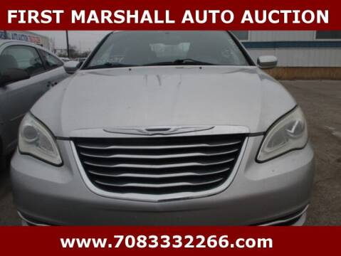 2011 Chrysler 200 for sale at First Marshall Auto Auction in Harvey IL
