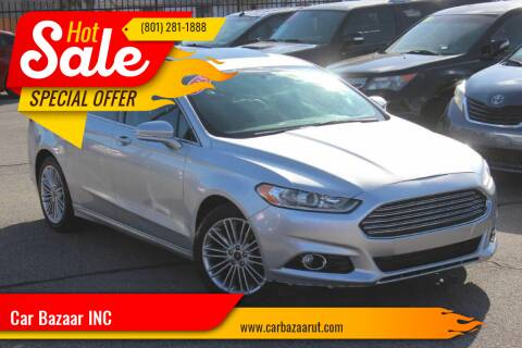 2015 Ford Fusion for sale at Car Bazaar INC in Salt Lake City UT
