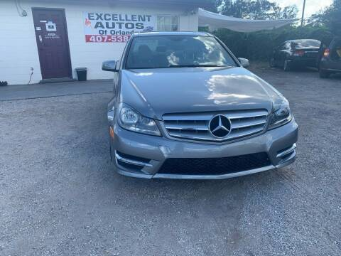 2012 Mercedes-Benz C-Class for sale at Excellent Autos of Orlando in Orlando FL