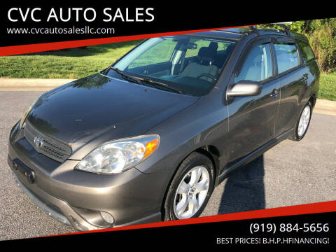 2008 Toyota Matrix for sale at CVC AUTO SALES in Durham NC