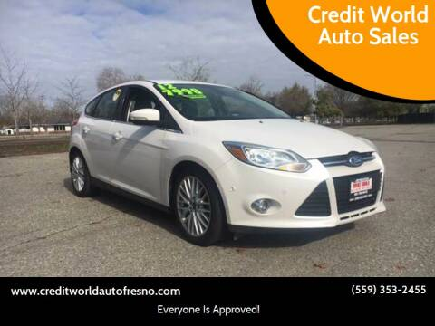 2012 Ford Focus for sale at Credit World Auto Sales in Fresno CA