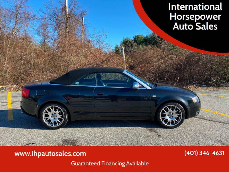 2006 Audi S4 for sale at International Horsepower Auto Sales in Warwick RI