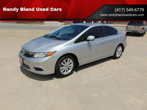 2012 Honda Civic for sale at Randy Bland Used Cars in Nevada MO