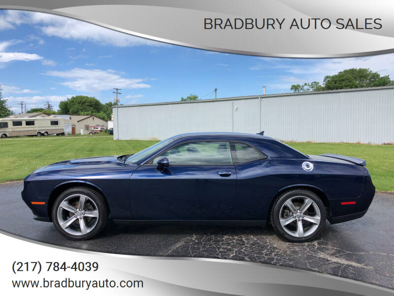 2015 Dodge Challenger for sale at BRADBURY AUTO SALES in Gibson City IL