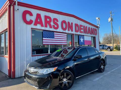 2014 Toyota Camry for sale at Cars On Demand 2 in Pasadena TX