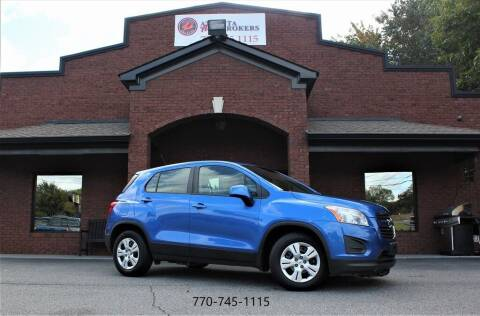 2016 Chevrolet Trax for sale at Atlanta Auto Brokers in Cartersville GA