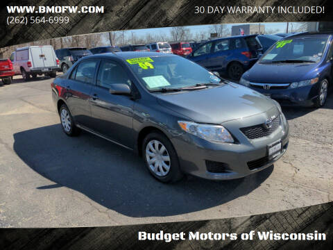 2009 Toyota Corolla for sale at Budget Motors of Wisconsin in Racine WI