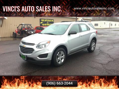 2016 Chevrolet Equinox for sale at Vinci's Auto Sales Inc. in Bessemer MI