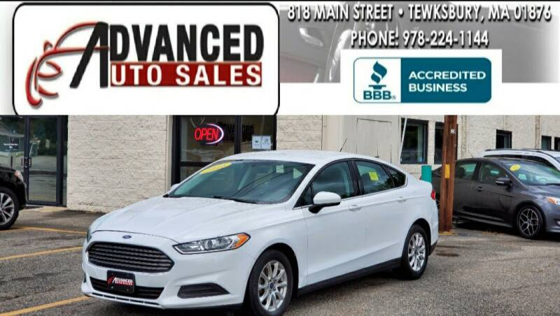 2016 Ford Fusion for sale at Advanced Auto Sales in Tewksbury MA