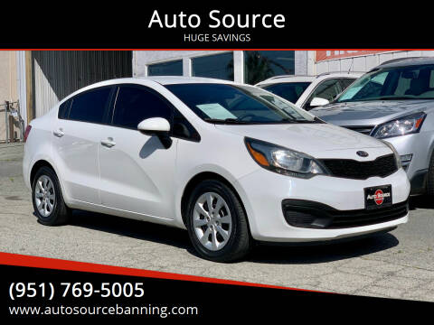 2013 Kia Rio for sale at Auto Source in Banning CA
