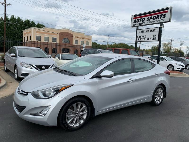 2016 Hyundai Elantra for sale at Auto Sports in Hickory NC