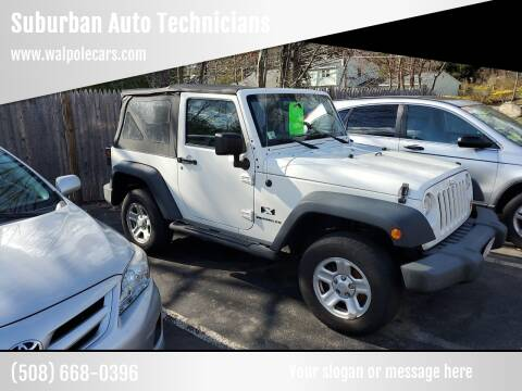 2009 Jeep Wrangler for sale at Suburban Auto Technicians in Walpole MA