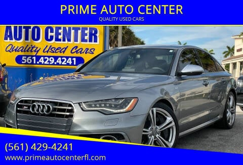 2014 Audi S6 for sale at PRIME AUTO CENTER in Palm Springs FL