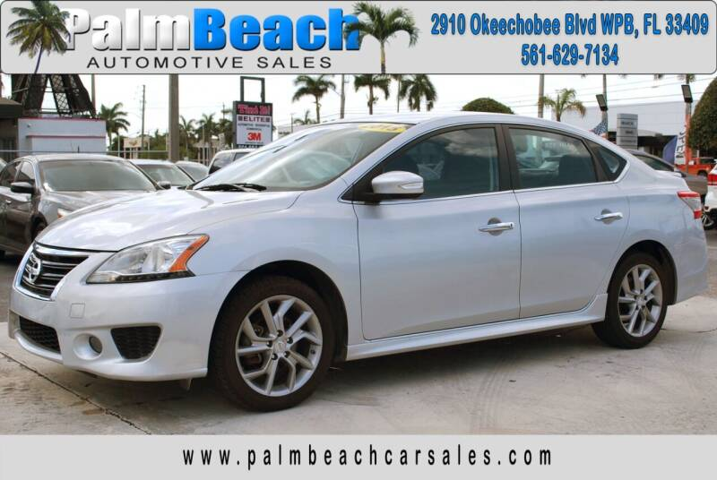 2015 Nissan Sentra for sale at Palm Beach Automotive Sales in West Palm Beach FL