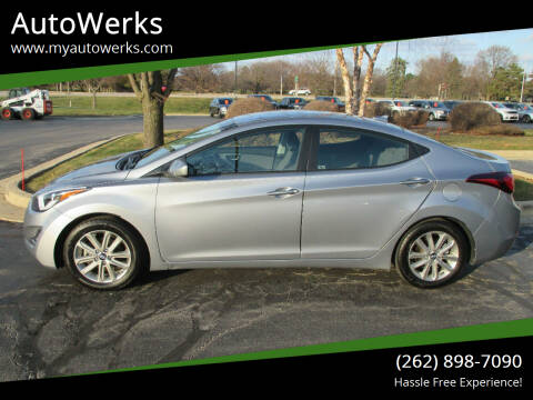 2016 Hyundai Elantra for sale at AutoWerks in Sturtevant WI