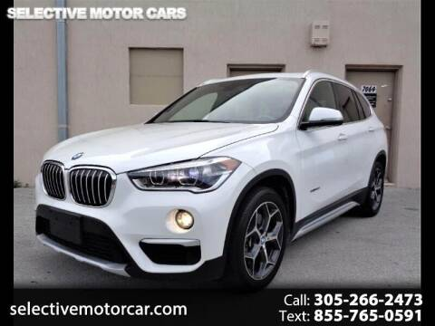 2016 BMW X1 for sale at Selective Motor Cars in Miami FL