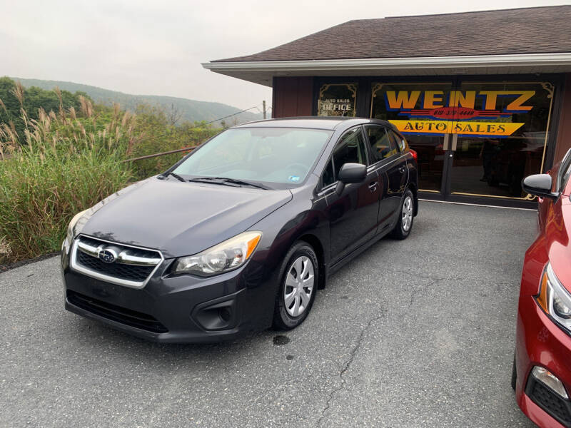 2013 Subaru Impreza for sale at WENTZ AUTO SALES in Lehighton PA