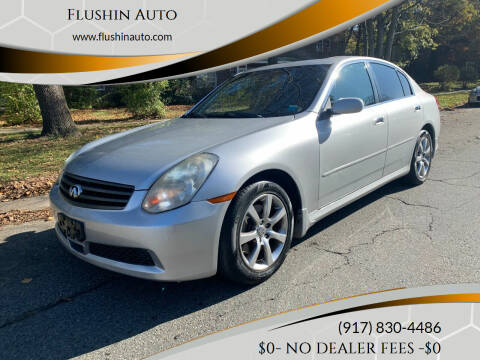 2006 Infiniti G35 for sale at FLUSHIN AUTO in Flushing NY