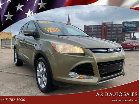 2013 Ford Escape for sale at A & D Auto Sales in Joplin MO