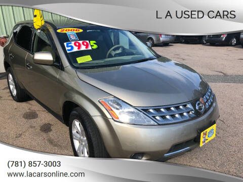 2006 Nissan Murano for sale at L A Used Cars in Abington MA