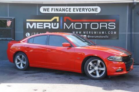 2016 Dodge Charger for sale at Meru Motors in Hollywood FL