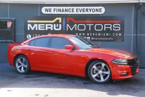 2016 Dodge Charger for sale at Meru Motors in Hollywood FL