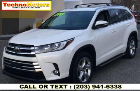 2018 Toyota Highlander for sale at Techno Motors in Danbury CT
